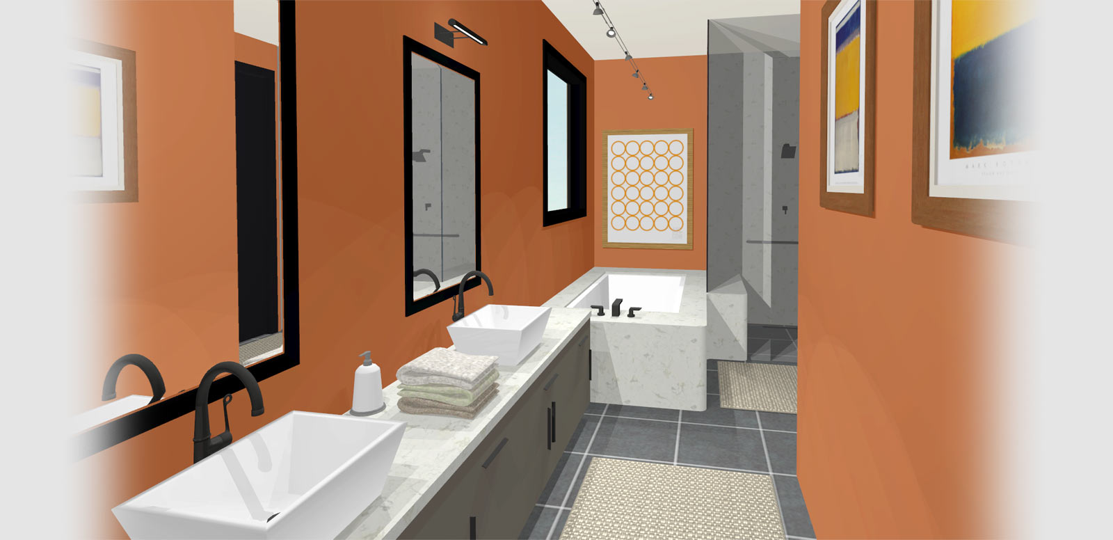 designer kitchen bathroom master bath with sinks and a marble bath 6627