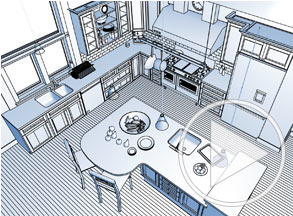 Technical Rendering Of Kitchen Island